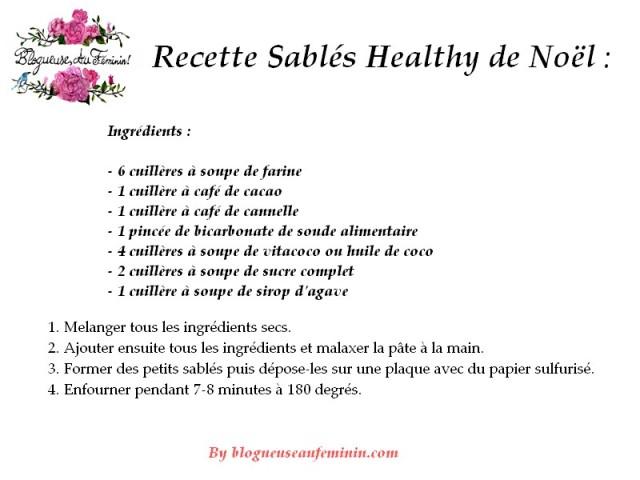 recette sablés healthy de noël
